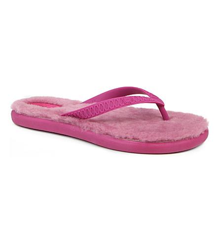 UGG Fluffie rubber flip flops (Pink