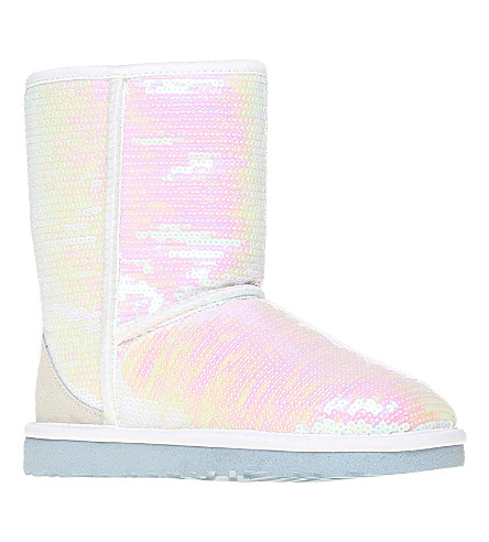 UGG Classic Short Sparkles I Do sheepskin boots