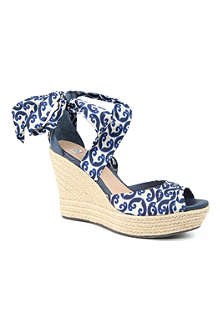 UGG Lucianna Marrakech silk wedge sandals