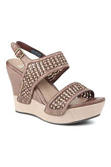 UGG Assia leather wedge sandals