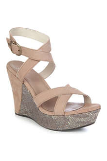 UGG Ariah nubuck leather wedge sandals