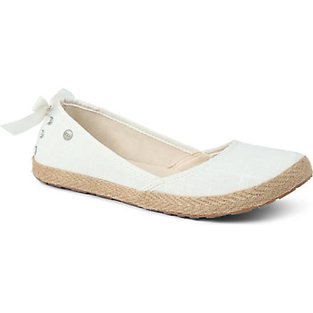 ugg indah canvas flat shoes selfridges
