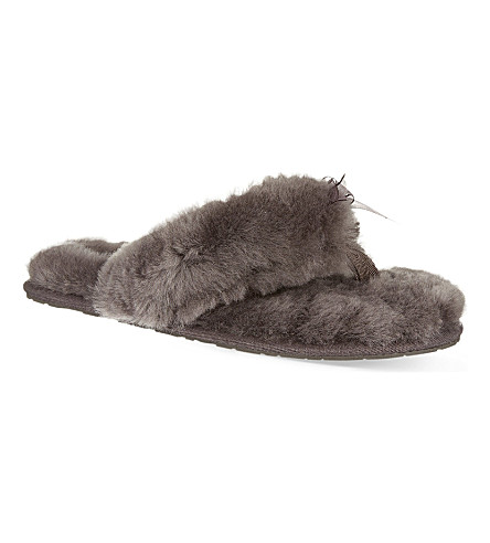 UGG Fluff sheepskin slippers (Grey