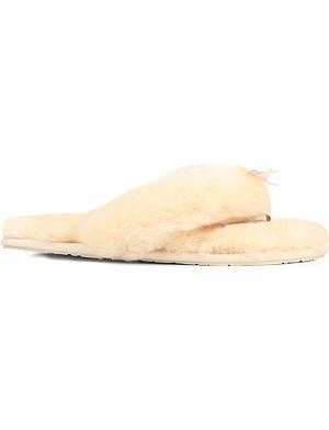 UGG Fluff flip-flop sheepskin slippers