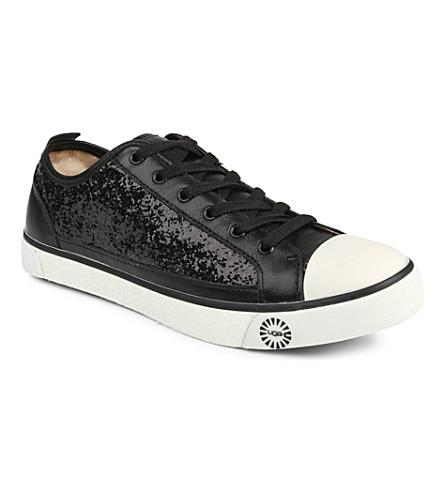 UGG Evera glitter trainers (Black