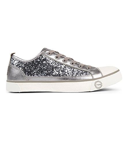 UGG Evera glitter trainers (Silver
