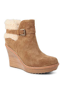 UGG Anais suede leather ankle boots