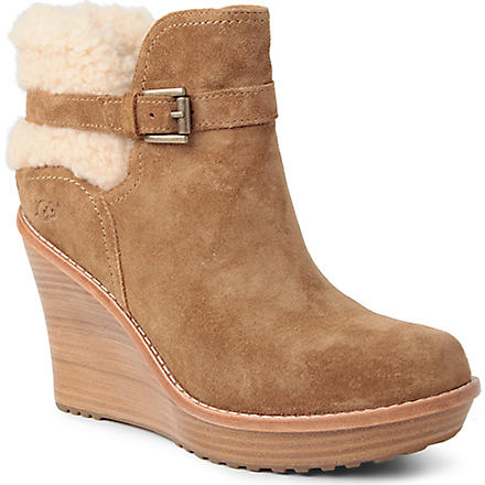 UGG Anais suede leather ankle boots (Brown