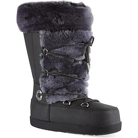 UGG Julette leather boots (Black