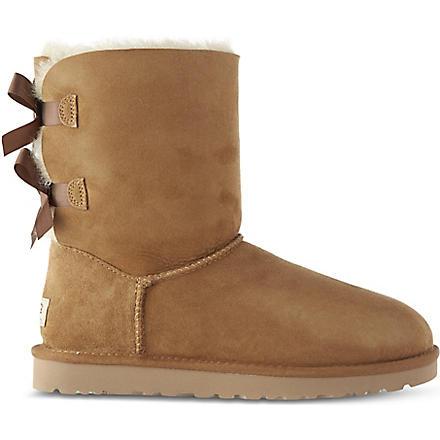 UGG Bailey bow sheepskin boots (Brown