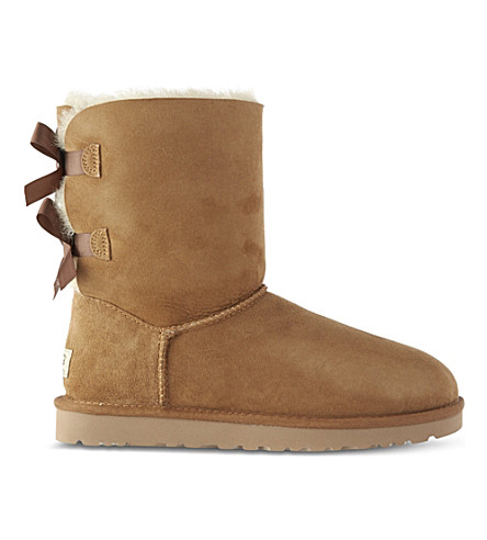 UGG Bailey bow sheepskin boots (Brown