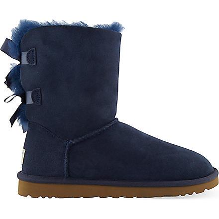 UGG Bailey bow sheepskin boots (Navy