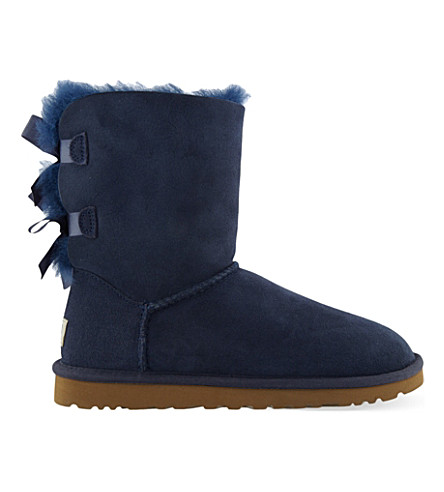 UGG Bailey bow sheepskin boots (Navy