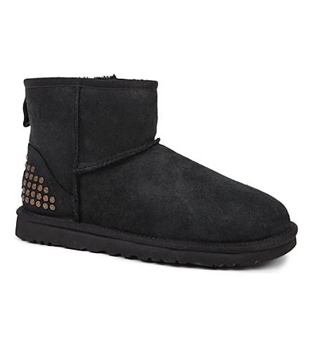 UGG Classic Mini studded sheepskin boots (Black