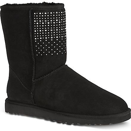 UGG Classic short bling boots (Black