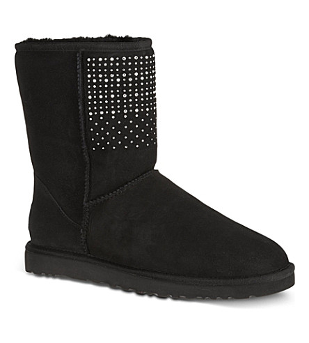 UGG Classic short bling boots (Black