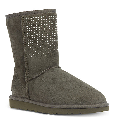 UGG Classic short bling boots (Grey