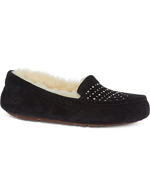 UGG Ansley bling sheepskin-lined slippers