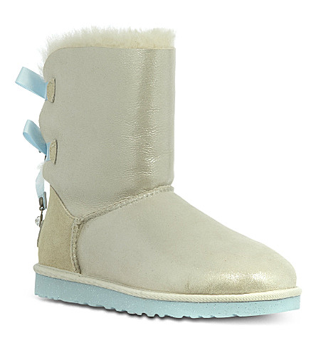 UGG Bailey bow bling boots (White