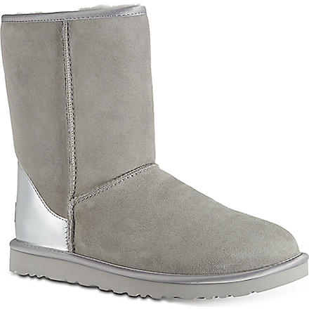 UGG Short metallic boots (Grey