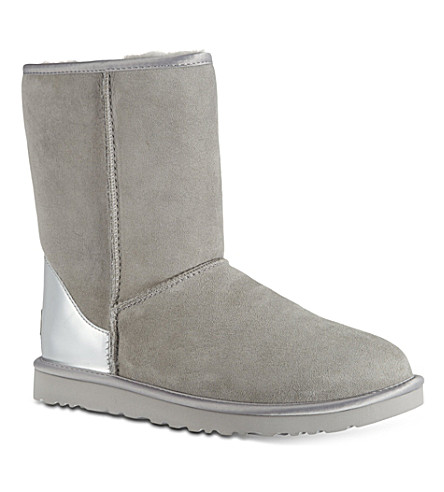 OPERA DARTE Short metallic boots (Grey