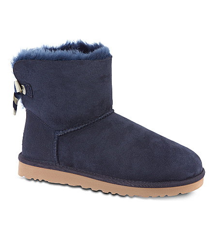 UGG Mini Bailey striped bow boots (Navy