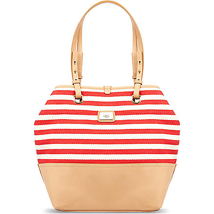 UGG Gracie striped tote (Red