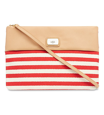 UGG Nico striped clutch (Red