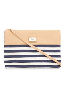 UGG Nico striped clutch