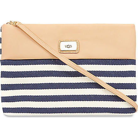 UGG Nico striped clutch (Navy