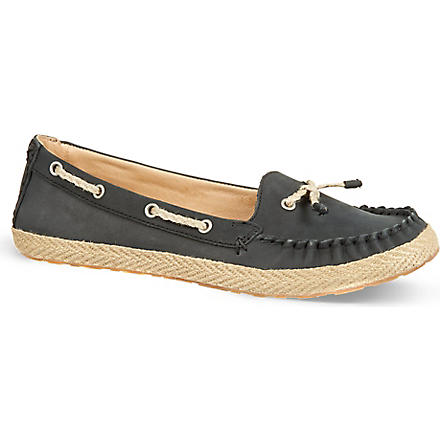 UGG Chivon leather moccasins (Black