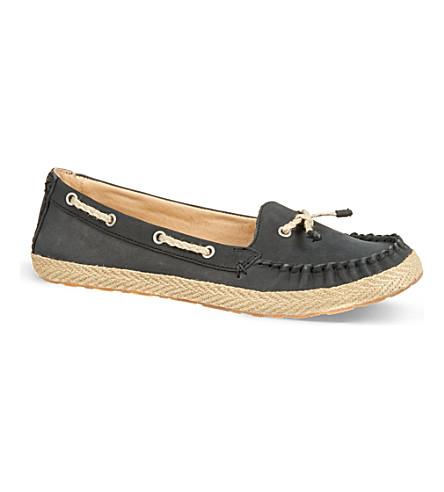 UGG Chivon leather moccasins (Black