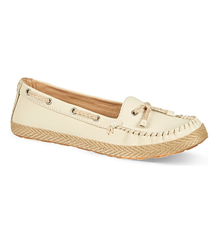 UGG Chivon leather moccasins (White