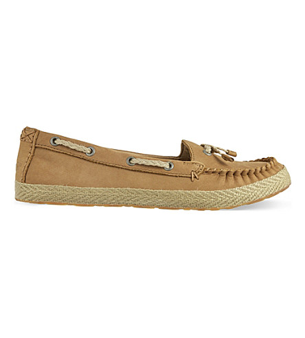 UGG Chivon leather moccasins (Brown