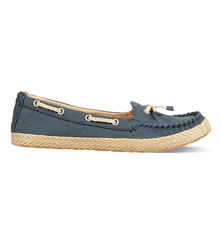 UGG Chivon leather moccasins (Navy