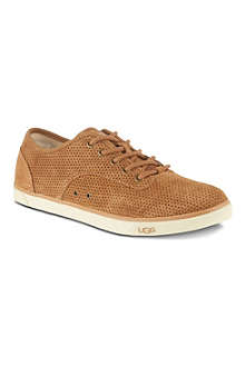 UGG Hally perforated suede trainers