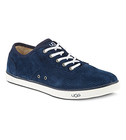 UGG Hally perforated suede trainers (Navy