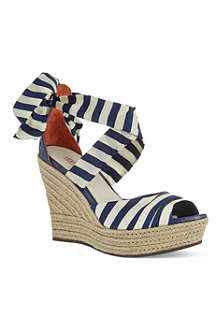 UGG Lucianna silk wedge sandals