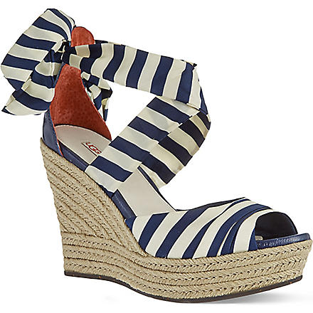UGG Lucianna silk wedge sandals (Navy