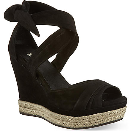 UGG Lucy suede sandals (Black