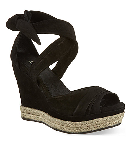OPERA DARTE Lucy suede sandals (Black