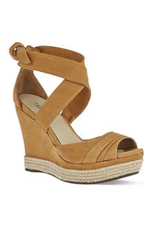 UGG Lucy leather wedge sandals