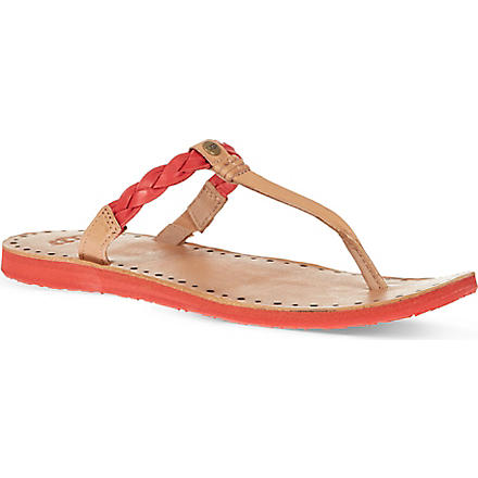 UGG Bria leather flip flops (Red
