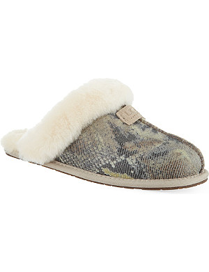 UGG Scuffette II snake-print slippers