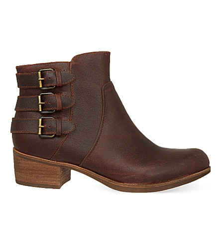UGG Volta leather ankle boots (Brown