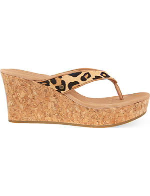 UGG Natassia leopard wedge sandals