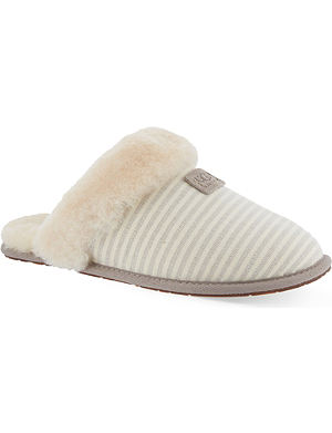 UGG Scufette II striped slippers