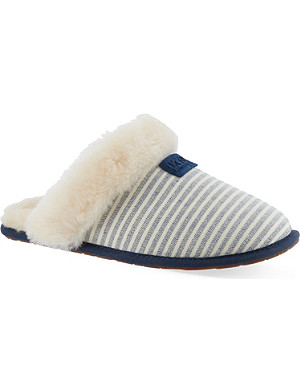 UGG Scufette II striped slippers
