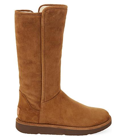 UGG Abree suede boots (Dark+brown