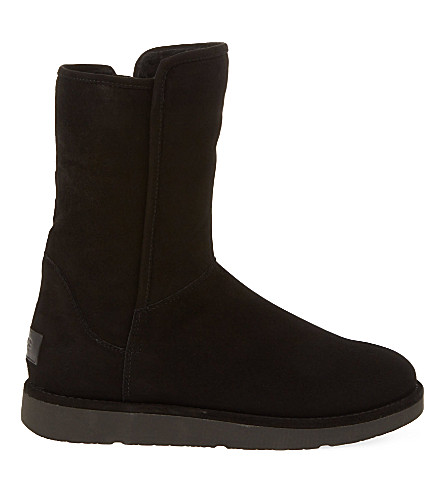 Abree 短绒脚靴 (黑色